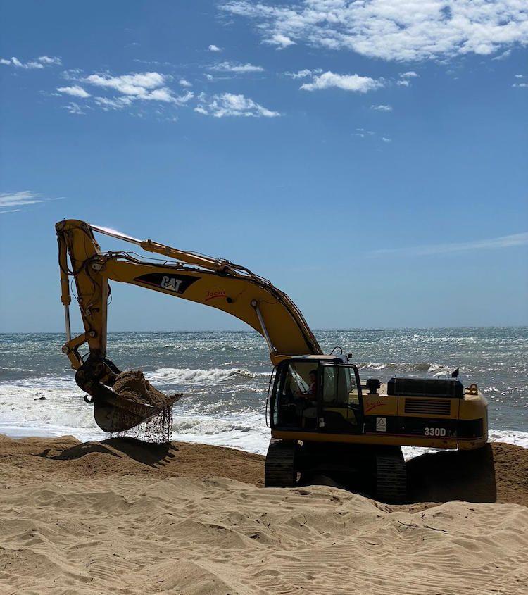 Adequació de la platja de Sant Vicenç de Montalt