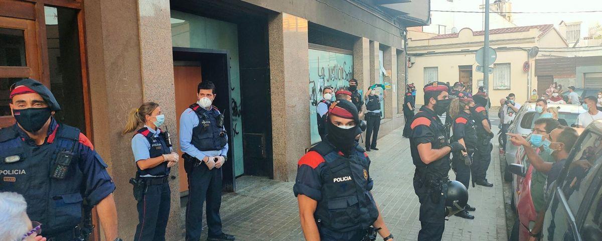 Protesta veïnal dijous passat al barri dels Molins