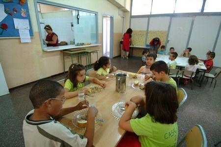 El menjador del CEIP Peramàs de Mataró