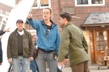 Forns, al centre de la imatge, en el set de rodatge